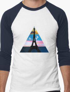 Eiffel Sky Men's Baseball ¾ T-Shirt
