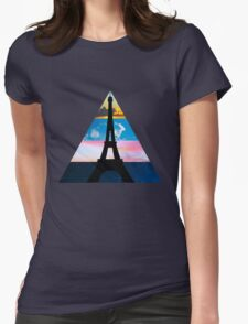 Eiffel Sky Womens Fitted T-Shirt