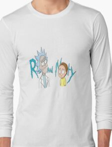 Rick and Morty Word Long Sleeve T-Shirt