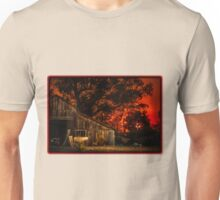 Red sunset in rural California Unisex T-Shirt
