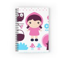 Little Red Riding Hood Fairytale { Pink Edition } Spiral Notebook