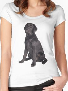 young black labrador retriever Women's Fitted Scoop T-Shirt