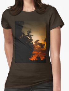 Sunset in Washington state Womens Fitted T-Shirt