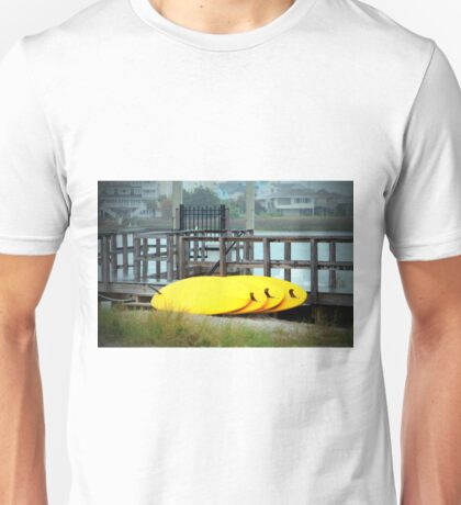 Four Yellow Surfboards Unisex T-Shirt
