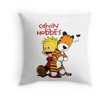 Calvin And doll hobbes Throw Pillow