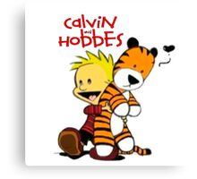 Calvin And doll hobbes Canvas Print