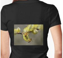 Bees & Cottonwood blooms Womens Fitted T-Shirt
