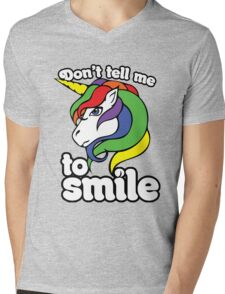 Don't tell me to smile Mens V-Neck T-Shirt