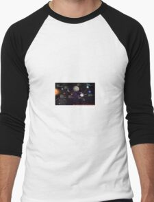 space infographic Men's Baseball ¾ T-Shirt