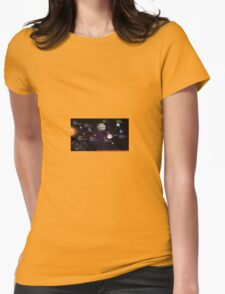 space infographic Womens Fitted T-Shirt
