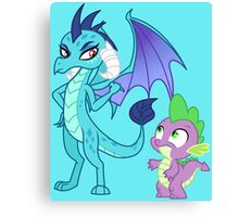 PRINCESS EMBER AND SPIKE Canvas Print