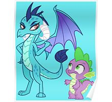 PRINCESS EMBER AND SPIKE Poster
