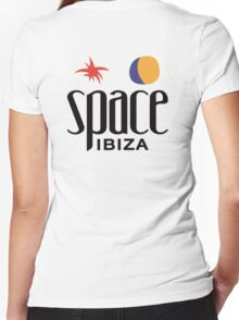 Space Ibiza Women's Fitted V-Neck T-Shirt