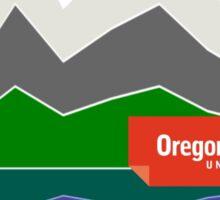 Garcia Lab - Oregon State (small logo) Sticker