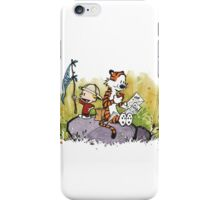 Calvin And Hobbes mapping iPhone Case/Skin