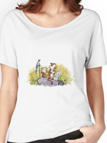 Calvin And Hobbes mapping Women's Relaxed Fit T-Shirt