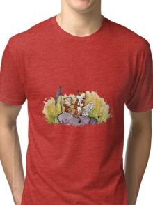 Calvin And Hobbes mapping Tri-blend T-Shirt