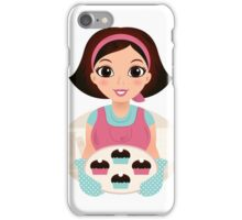 Cooking Mother holding cookies iPhone Case/Skin