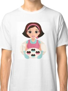 Cooking Mother holding cookies Classic T-Shirt