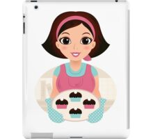 Cooking Mother holding cookies iPad Case/Skin