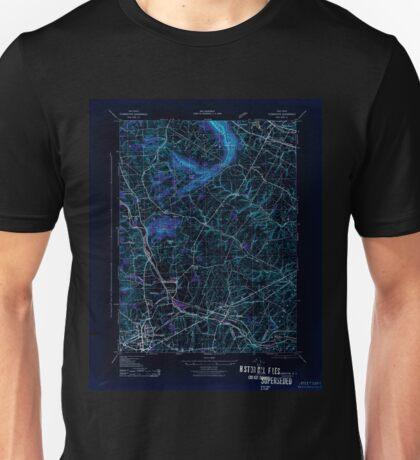USGS TOPO Map New Jersey NJ Flemington 255046 1943 31680 Inverted Unisex T-Shirt
