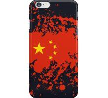 China Flag Ink Splatter iPhone Case/Skin