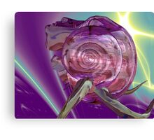 ALIEN NEREIDE,NYMPH OF WATER ,PINK SEASHELL Sci-Fi Canvas Print