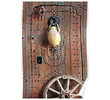Oriental Wooden Rustic Door  Poster