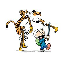 hobbes and calvin time advanture Photographic Print