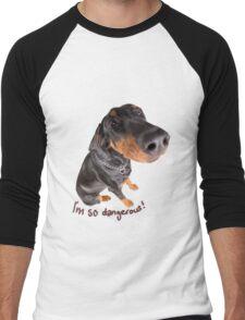 dangerous dog Men's Baseball ¾ T-Shirt