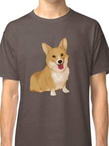 Cute smiling corgi Classic T-Shirt
