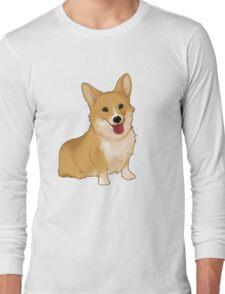 Cute smiling corgi Long Sleeve T-Shirt