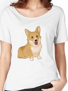 Cute smiling corgi Women's Relaxed Fit T-Shirt