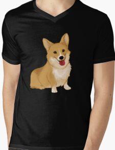 Cute smiling corgi Mens V-Neck T-Shirt