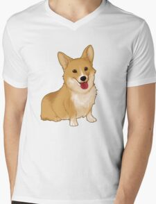 Cute smiling corgi Mens V-Neck T-Shirt