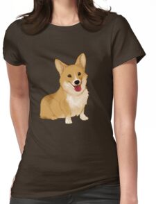 Cute smiling corgi Womens Fitted T-Shirt