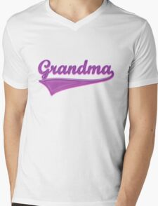 Grandma Swoosh T-shirt Design Mens V-Neck T-Shirt