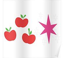 My little Pony - Applejack + Twilight Sparkle Cutie Mark V3 Poster