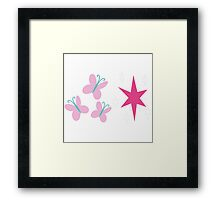 My little Pony - Fluttershy + Twilight Sparkle Cutie Mark V3 Framed Print