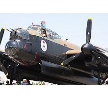 Four Engine Avro Lancaster Bomber prepare to start engines. Photographic Print