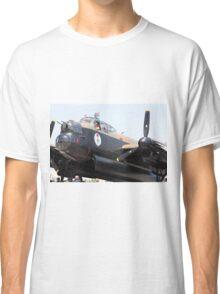 Four Engine Avro Lancaster Bomber prepare to start engines. Classic T-Shirt