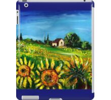 SUNFLOWERS AND COUNTRYSIDE IN TUSCANY iPad Case/Skin