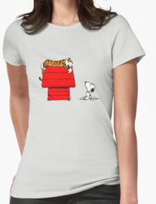 Snoopy And Hobbes Womens Fitted T-Shirt