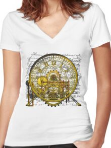 Vintage Time Machine #1B Women's Fitted V-Neck T-Shirt
