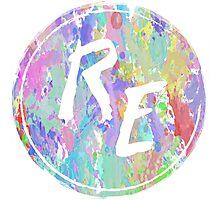Rough Edit Splatter Logo Photographic Print