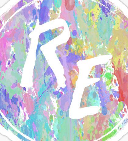 Rough Edit Splatter Logo Sticker