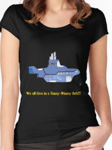 timey wimey sub (update) Women's Fitted Scoop T-Shirt