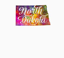 North Dakota US State in watercolor text cut out T-Shirt