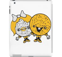 couple love love girl boy man woman male female 2 robot cyborgs couple engineering science fiction sweet cute iPad Case/Skin