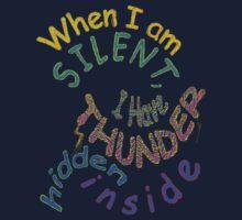 THUNDER... hidden silently ~ Rumi Kids Tee